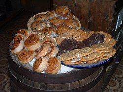 Delicious baked goods at Moose Creek Lodge, Yukon Territory
