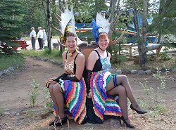 Klondike Can-Can Dancers at Moose Creek Lodge, Yukon Territory