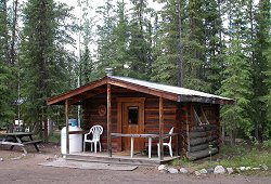 Bed & Breakfast log cabin at Moose Creek Lodge, Yukon Territory