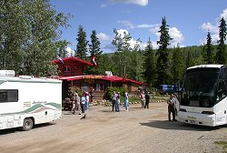 Moose Creek Lodge is a popular stop for  motorhome caravans and motorcoach tours